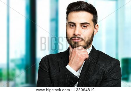 Doubtful businessman portrait
