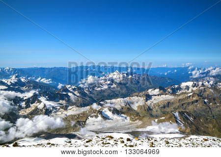 Mountain view from the top of Mount Elbrus