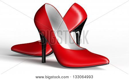 Shoes For Women, Sexy Pumps Isolated On White