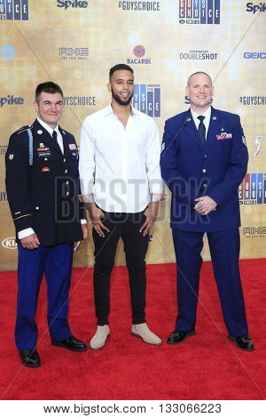 LOS ANGELES - JUN 4:  Alek Skarlatos, Anthony Sadler, Spencer Stone at the 10th Annual Guys Choice Awards at the Sony Pictures Studios on June 4, 2016 in Culver City, CA