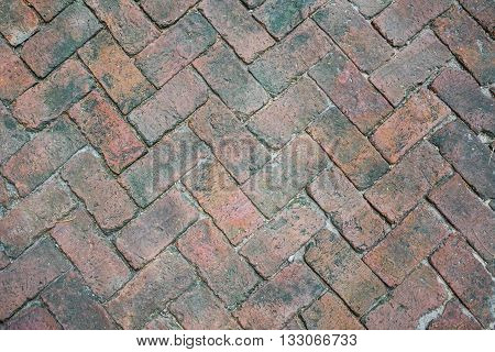 the creative rectangle old brick walkway texture