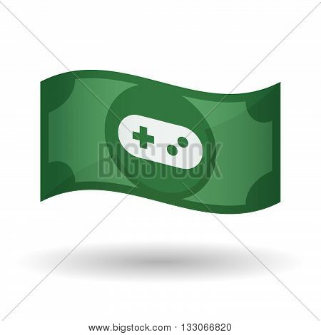 Illustration Of A Waving Bank Note With A Game Pad