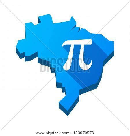 Illustration Of An Isolated Brazil Map With The Number Pi Symbol
