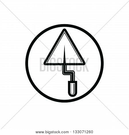Renovation and repair instrument spatula. Graphic puttying vector tool technical utensil. Building theme branding symbol.