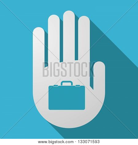 Long Shadow Hand With  A Briefcase