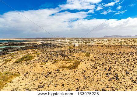 Rocky Coastline With Turquoise Lagoons - El Cotillo Fuerteventura Canary Islands Spain