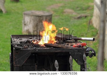 Old Smithery And Fire