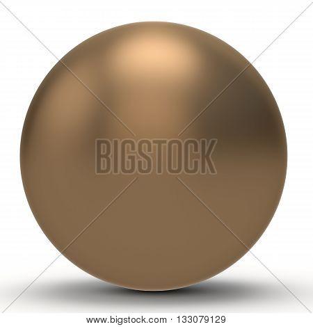 3D Copper Sphere