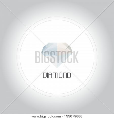 Diamond gem logo in low lolygon style. Vector illustration for web company logo and brand design.