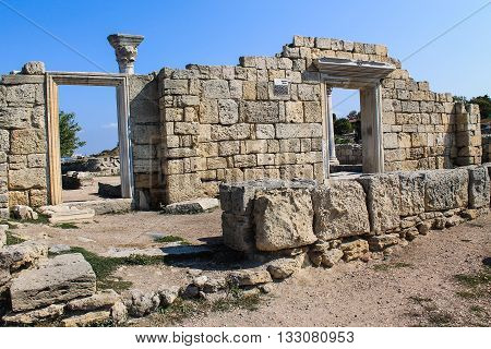 Tauric Chersonesos, national preserve to the West of Sevastopol in the Crimea