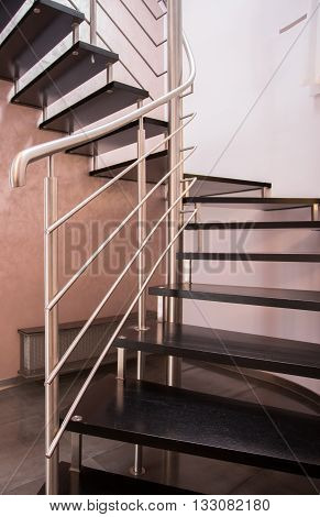 Modern Staircase With Silver Railing