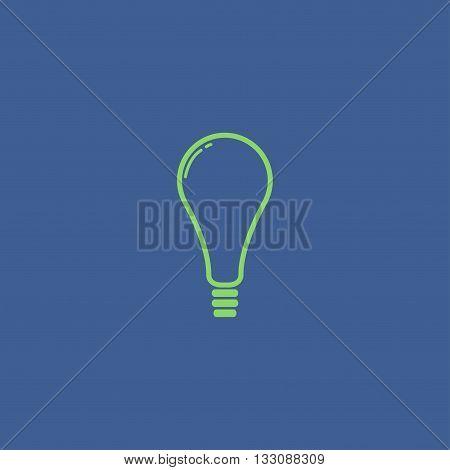 Vector flat Lightbulb Icon. Flat design style eps 10