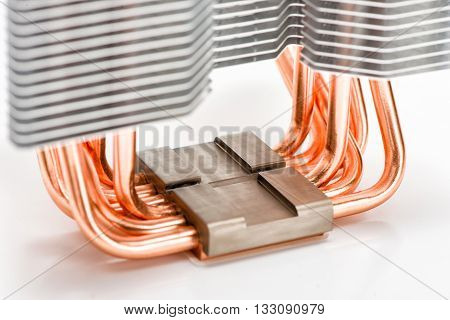 The base of the CPU cooler and the heat pipes