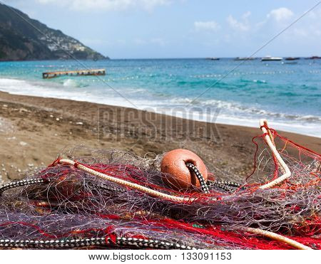Fishing Nets On The Beach Of Positano
