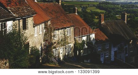 Shafetsbury Dorset UK Village Cobbles Concept