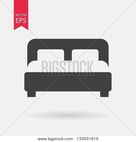 Bed Icon Vector. Flat design. Bed sign isolated on white background