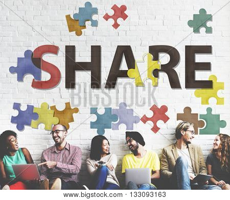 Share Distribution Exchange Communication Connection Concept