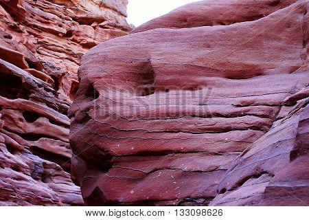 Desert With Mountains. Sinai, Egypt