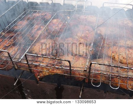 food cooking meat smoked grille tasty close-up