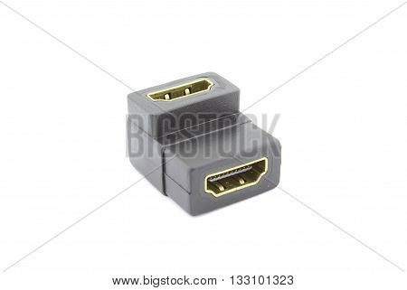 HDMI female to female adapter 90 degrees