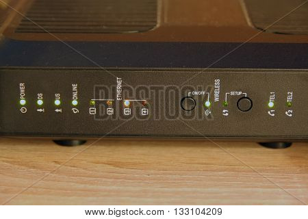 Home wireless router. Internet and cable television router.