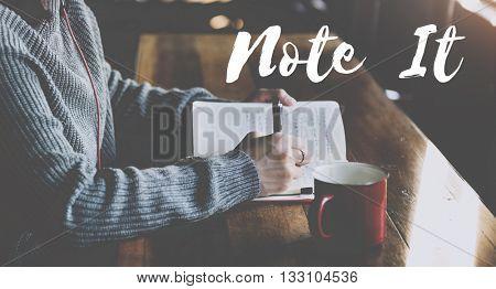 Note Memo Plan To-Do Message Concept