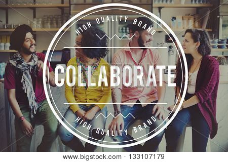 Team Teamup Collaborate Interact Socialize Concept