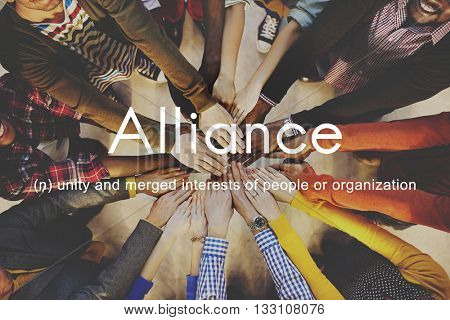 Alliance Team Combine Corporate Partnership Concept