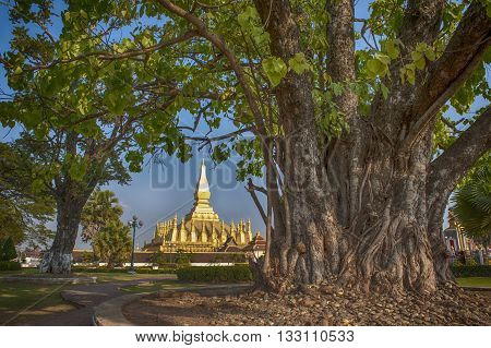 Wat Phra That Luang - landmark of Lao PDR in Vientiane