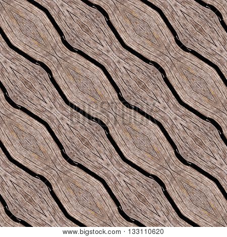 Carved diagonal wood oak palings texture made seamless