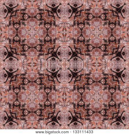Seamless red sandstone rock texture on tile floor