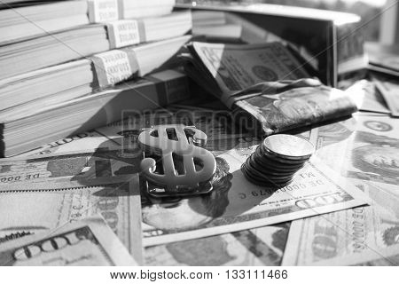 Cash Black & White Stock Photo High Quality