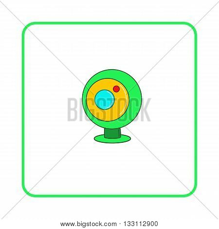 Webcam icon in simple style on white background. Device symbol