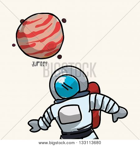 Space concept with icon design, vector illustration 10 eps graphic.