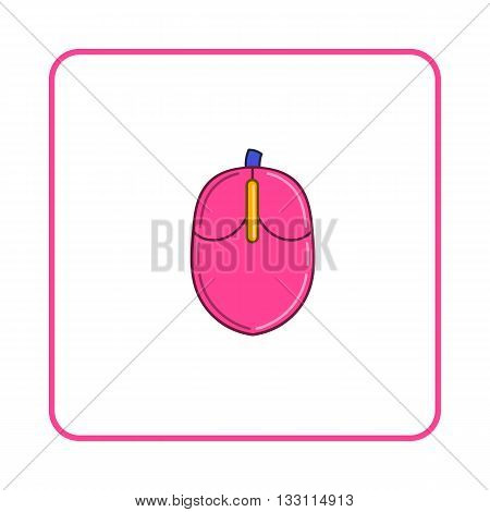 Mouse of computer icon in simple style on white background. Device symbol