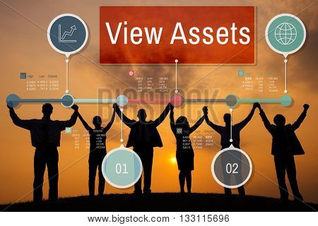 View Assets Savings Investment Value Concept