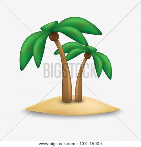 Palm tree icon. Palm trees icon. Palm tree isolated on white background. Palm tree vector.
