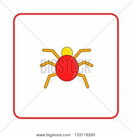 Spider icon in simple style on white background. Nature symbol