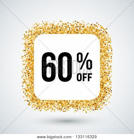 Golden Frame with Discount Sixty Percent for Design
