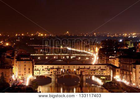 Ponte Vecchio bridge at Florance in Italy
