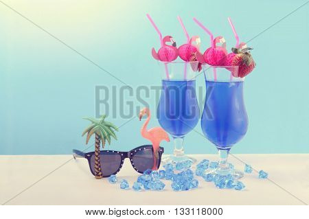 Summer Is Here Theme Blue Hawaiian Cocktails