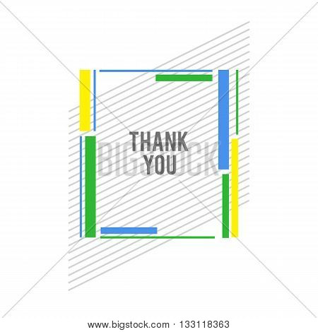 Vector constructive frame background. Flat color frame. Geometry green frame. Modern frame. Material design frame. Stylized frame