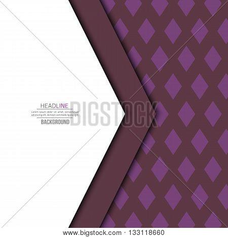 Violet material design background. Flat template. Fashion background. Abstract shape material design.