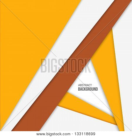 Yellow material design background. Flat design layout. Abstract shape material design. Vector flat background.