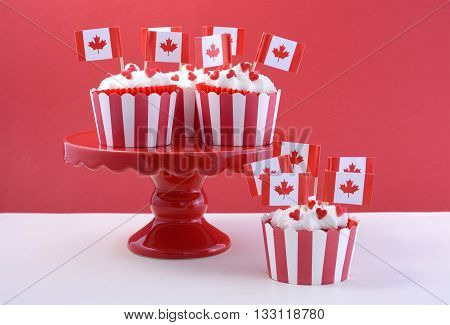 Happy Canada Day Party Cupcakes