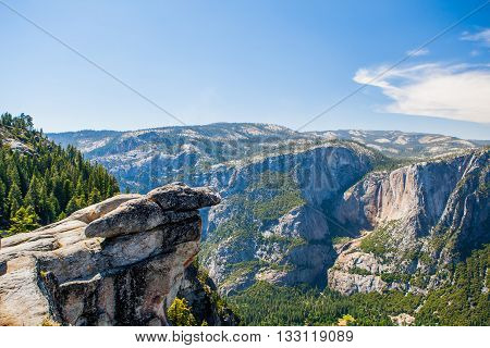 Glacier Point In Yosemite National Park, California, Usa