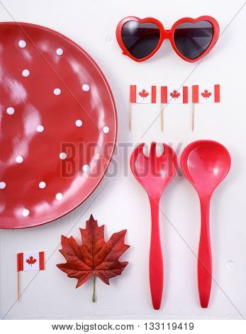 Canada Party Table Background