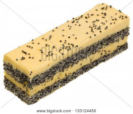 Poppy Cake with Vanilla Cream Cutout