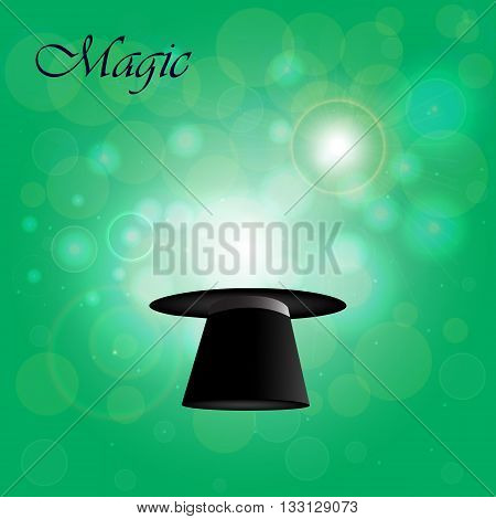 Magic hat from which magic light appears