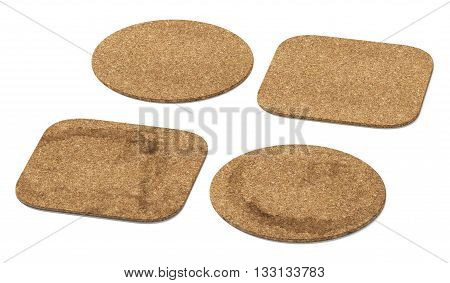 Beer coaster. Isolated on white background. Include clipping path. 3d illustration